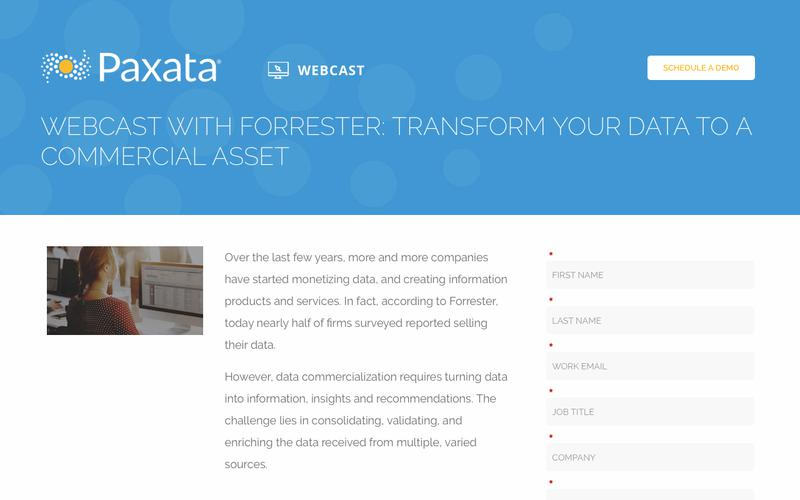 Webcast with Forrester: Transform Your Data to a Commercial Asset