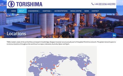 Screenshot of Locations Page torishima.eu - Locations - captured Dec. 3, 2016