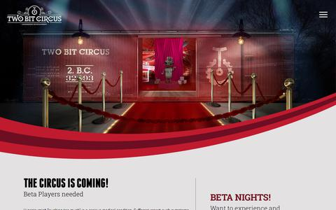 Screenshot of Signup Page twobitcircus.com - Beta    Two Bit Circus: Engineering Entertainment - captured June 17, 2017