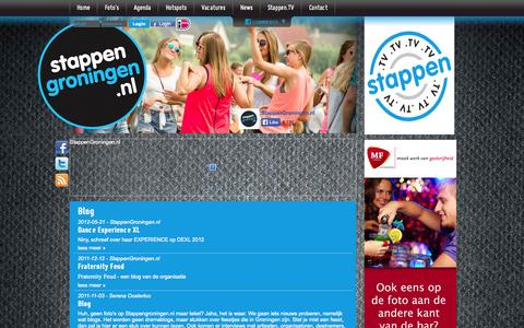 Screenshot of Press Page stappengroningen.nl - Blog | StappenGroningen.nl - captured Oct. 7, 2014