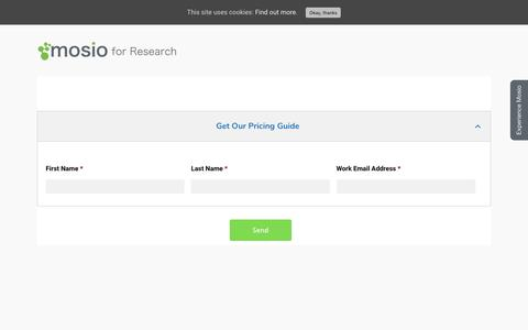 Screenshot of Pricing Page mosio.com - Mosio - Get Pricing for Clinical Research Text Messaging Software - captured Jan. 10, 2020