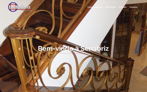 Screenshot of Home Page sercibriz.com - Sercibriz | Serralharia Civil de Cabriz, Lda. - captured Nov. 18, 2018