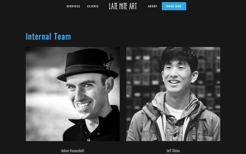Screenshot of Team Page lateniteart.com - Team — LATE NITE ART - captured Jan. 12, 2018