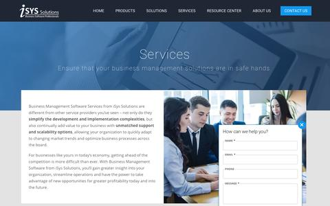 Screenshot of Services Page isyssolutions.com - ERP, CRM and Portal Solutions - Dubai, Abu Dhabi, Sharjah, UAE | iSys Solutions - captured Sept. 20, 2018