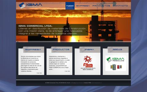 Screenshot of Home Page igmacomercial.cl - | | |  IGMA COMERCIAL Ltda.  | | | - captured Sept. 30, 2014