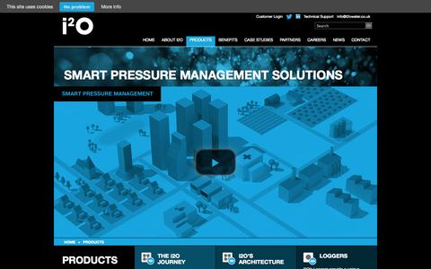Screenshot of Products Page i2owater.com - Products | Smart Water Technology | i2O Water - captured Oct. 29, 2014