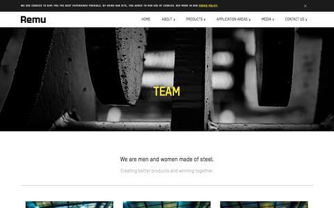 Screenshot of Team Page remu.fi - Team | REMU OY - captured Sept. 20, 2018