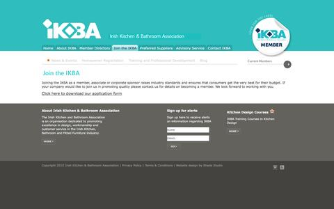 Screenshot of Signup Page ikba.ie - IKBA - Join the Irish Kitchen and Bathroom Association - captured Feb. 11, 2016