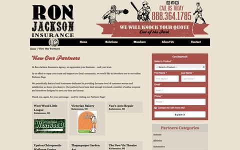 Partners Page | Ron Jackson Insurance Agency of Kalamazoo Michigan