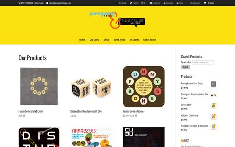 Screenshot of Products Page funnybonetoys.com - Buy Funnybone Toys and Games Online - captured Sept. 30, 2014