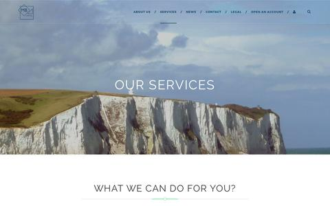 Screenshot of Services Page mbcapital.co.uk - • SERVICES » MB Capital - captured Sept. 29, 2017
