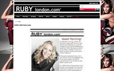 Screenshot of Blog rubylondon.com - Magento Commerce - captured Oct. 7, 2014