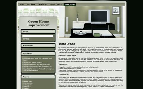 Screenshot of Terms Page thegreendragon.us - Terms Of Use - captured Oct. 9, 2014