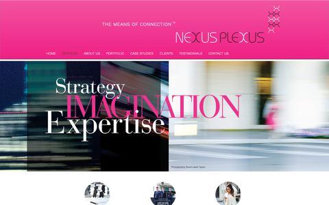 Screenshot of Services Page nexusplexusny.com - Nexus Plexus   Brand Strategy   Creative   Advertising   SERVICES - captured Oct. 20, 2018