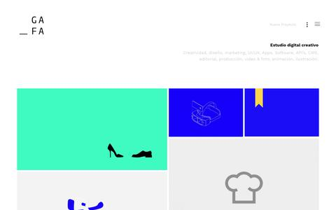 Screenshot of Home Page gafa.mx - Gafa - Where Ideas Host - Estudio digital en la Ciudad de México - captured Feb. 1, 2018