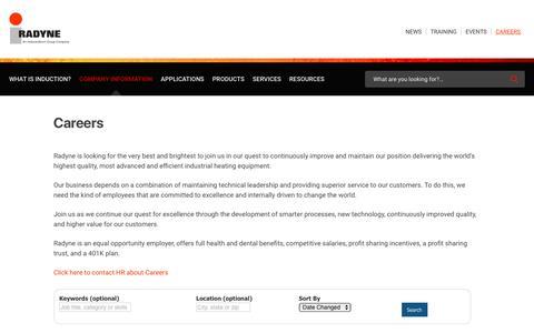 Screenshot of Jobs Page radyne.com - Careers | Radyne Corporation - captured Aug. 5, 2019