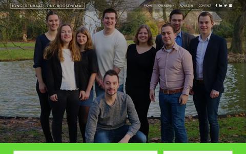 Screenshot of Home Page jongroosendaal.nl - Jongerenraad JONG Roosendaal – Voor en door jongeren in Roosendaal - captured Sept. 20, 2018