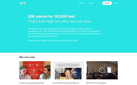 Screenshot of Press Page 30k.com - 30K - Press - captured Feb. 6, 2016