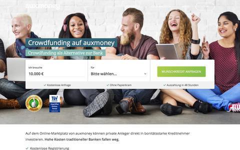 Crowdfunding beim Marktführer » AUXMONEY.com