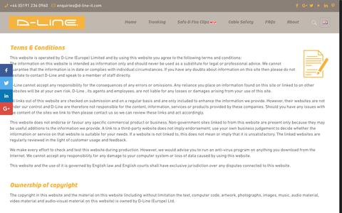 Screenshot of Terms Page d-line-it.com - Terms & Conditions – D-Line - captured Sept. 30, 2018