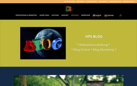 Screenshot of Blog homepage-solution.com - HPS BLOG – Homepage Solution - captured Oct. 5, 2018