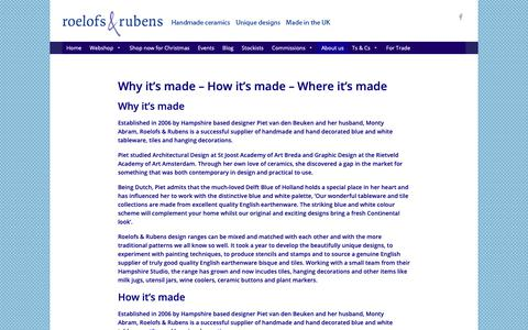 Screenshot of About Page roelofsrubens.co.uk - | Roelofs & Rubens - captured Dec. 11, 2018