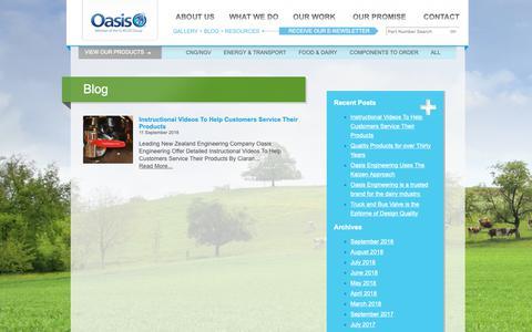 Screenshot of Blog oasisngv.com - Oasis Engineering | CNG, NGV, Ball Valves | Blog - captured Oct. 18, 2018