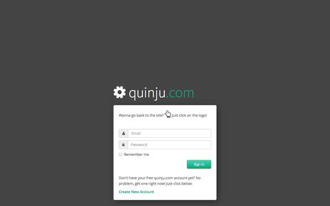 Screenshot of Login Page quinju.com - quinju.com - captured Nov. 2, 2014