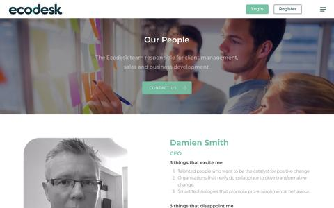Screenshot of Team Page ecodesk.com - Our People – Ecodesk - captured July 16, 2018