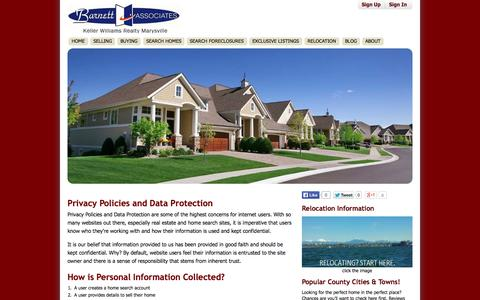 Screenshot of Privacy Page barnettassociates.net - Privacy Policy - BarnettAssociates.net - captured Oct. 5, 2014