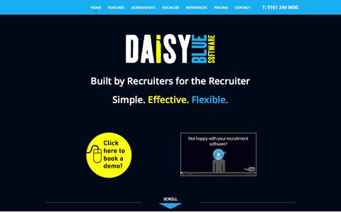 Screenshot of Home Page daisybluesoftware.com - Cloud Based Recruitment Software - captured Sept. 30, 2014