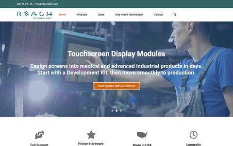 Screenshot of Home Page reachtech.com - Reach Technology | Products Designed for Your Specific Purpose - captured Jan. 16, 2020