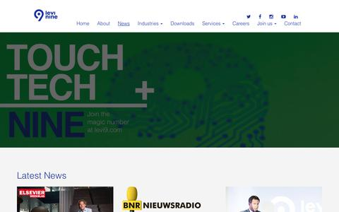 Screenshot of Press Page levi9.com - News – Levi9 - captured Oct. 6, 2017