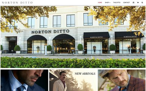 Screenshot of Home Page nortonditto.com - Norton Ditto Men's Fine Clothing since 1908. Houston, TX. The Woodlands, TX. | Norton Ditto - captured Jan. 11, 2016