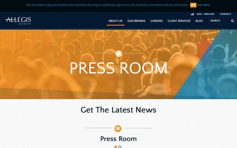Screenshot of Press Page allegisgroup.com - Press Room - captured July 25, 2016