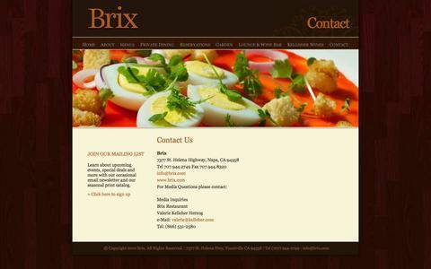 Screenshot of Contact Page brix.com - Contact | Brix - captured Oct. 5, 2014