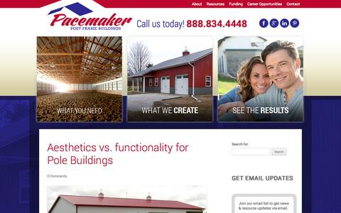 Screenshot of Blog pacemakerbuildings.com - Pacemaker Buildings - Post Frame Building Specialists - captured Oct. 28, 2014