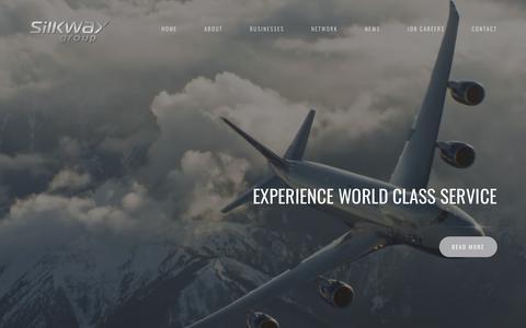 Screenshot of Home Page silkwaygroup.com - Main Page - Silk Way Group - captured Oct. 19, 2018