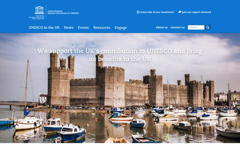 Screenshot of Home Page unesco.org.uk - UK National Commission for UNESCO - captured Sept. 30, 2017