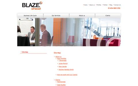 Screenshot of Site Map Page blazeahead.co.uk - Site Map | Blaze Ahead - captured Oct. 5, 2014