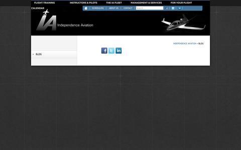 Screenshot of Blog ia-kapa.com - Blog «  Independence Aviation - captured Nov. 3, 2014