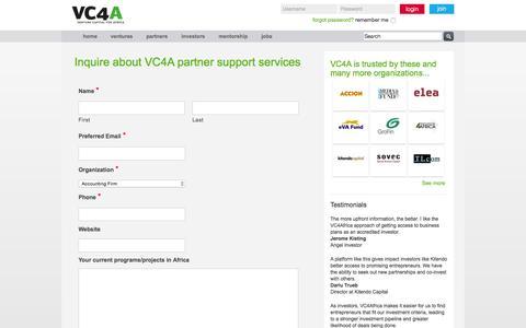 Screenshot of vc4africa.biz - Contact Partners | VC4Africa - captured Oct. 2, 2015