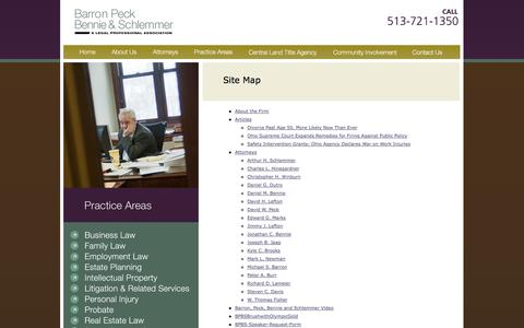 Screenshot of Site Map Page bpbslaw.com captured Oct. 5, 2014