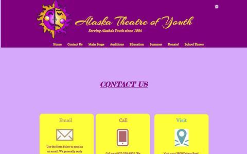 Screenshot of Contact Page alaskatheatreofyouth.org - Contact Us - captured Dec. 24, 2015
