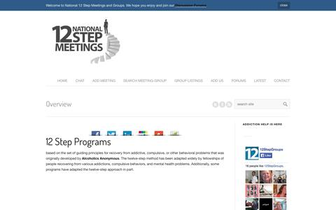 Screenshot of About Page national12stepmeetings.com - 12 Step Programs - National 12 Step Meetings - captured Oct. 9, 2014