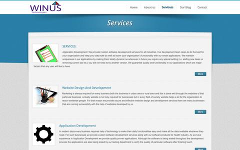 Screenshot of Services Page winustech.com - :: Welcome To Winus Technologies :: Website Designing in Nashik | Website Development Company in Nashik | web development in Nashik | Website Designing Company in Nashik | web development company Nashik | SEO India | SEO Compnay of india - Cheap SEO  - captured Oct. 26, 2014