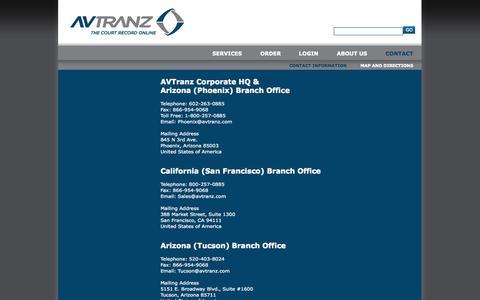 Screenshot of Contact Page avtranz.com - AVTranz | Contact Us - captured Sept. 30, 2014