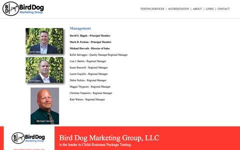 Screenshot of Team Page birddogmarketinggroup.com - Management   Bird Dog Marketing Group, LLC - captured Nov. 22, 2016