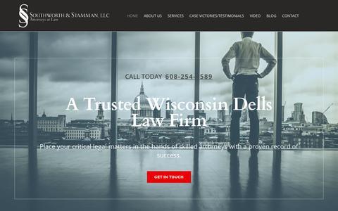 Screenshot of Home Page wisdellslaw.com - Criminal Defense | Estate Planning | Nonprofit Representation | Immigration Law - captured Oct. 23, 2017
