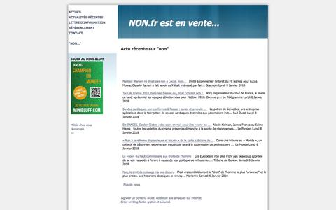 Screenshot of Home Page non.fr - NON.fr est en vente... - captured Jan. 12, 2018